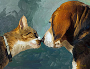 Pets Digital Art Originals - Best Friends by Angela A Stanton
