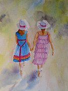 Summer Dresses Paintings - Best friends by Beatrice Cloake