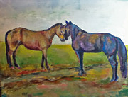 Country Western Paintings - Best Friends by Dee Wright Wimmer