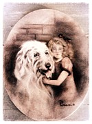 Puppy Paintings - Best Friends Forever - Vintage Collection by Beverly Pegasus
