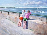 New England Ocean Painting Posters - Best Friends Poster by Laura Lee Zanghetti