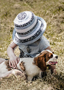 Sun Hat Prints - Best friends Print by Linsey Williams