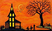 Haunted House Paintings - Best Night of the Year by Christine Altmann