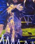 Afghan Hound Paintings - Best Of Winners by Terry  Chacon