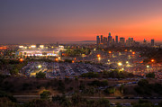 Los Angeles Skyline Metal Prints - Best Seat In The House Metal Print by Eddie Yerkish