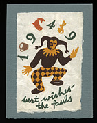 Linoleum Photo Posters - Best Wishes for 1949 Poster by Jan Faul