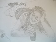 Nike Drawings - Bethany by Justin Moore