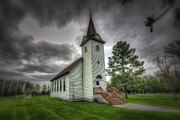 Wimbledon Photo Posters - Bethany Prairie Church Poster by David Foster