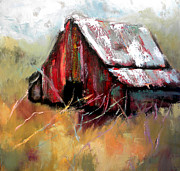 Red Barn Paintings - Bethel Road by Lisa Moore