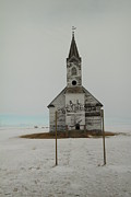 Abandoned Buildings Prints - Bethesda Lutheren Church Western North Dakota Print by Jeff  Swan