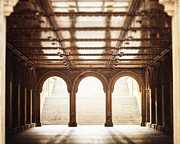 Bethesda Terrace Prints - Bethesda Terrace in Color Print by Lisa Russo