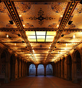 Fountain Scene Prints - Bethesda Terrace Lower Passage Print by Lee Dos Santos
