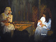 Jesus Painting Originals - Bethlehem by Sharon Burger
