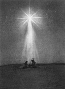 Shepherd Drawings - Bethlehems Star by J Ferwerda