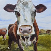 Barnyard Animal Paintings - Betsy by Donna Tuten