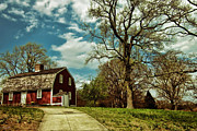 Red Barn. New England Prints - Betsy Williams House Print by Lourry Legarde