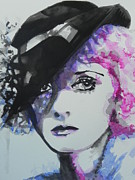 Famous Faces Painting Originals - Bette Davis 02 by Chrisann Ellis