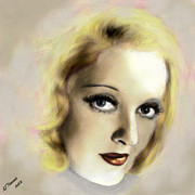 Hollywood Legend Prints - Bette Davis Eyes Print by Arne Hansen