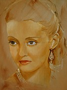 40s Paintings - Bette Davis Eyes by Joan Butler Gore