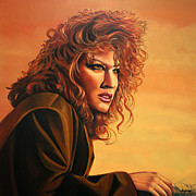 Pop Icon Paintings - Bette Midler by Paul  Meijering