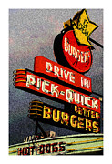 Burger Mixed Media Framed Prints - Better  Burgers Framed Print by Gail Lawnicki