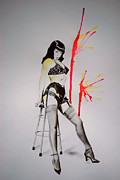 Chair Drawings Framed Prints - Bettie Chair Framed Print by Ashley McNamara