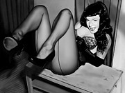 Andrew Harrison Prints - Bettie Page Print by Andrew Harrison
