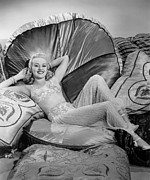 Millionaire Digital Art Posters - Betty Grable Reclining Poster by Studio Release