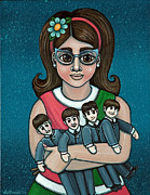 Mini Skirt Posters - Betty Jeans BEATLES Poster by Victoria De Almeida