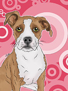 Betty The Boxer Print by Tony Clark