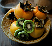Persimmons Prints - Bettys Bowl Print by Gwyn Newcombe