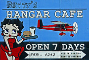 Betty Boop Framed Prints - Bettys Hangar Cafe Framed Print by Glenn McGloughlin