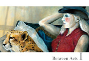 Cheetah Painting Posters - Between Acts 1 Poster by Katherine DuBose Fuerst