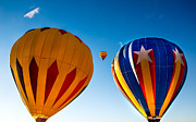 Hot Air Balloon Photography Framed Prints - Between The Two Framed Print by Robert Bales
