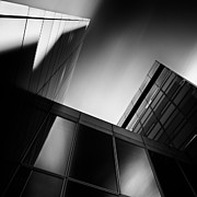 Fine Art Photography Art - Between Towers by David Bowman