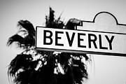 Paul Velgos - Beverly Boulevard Street Sign in Black an White