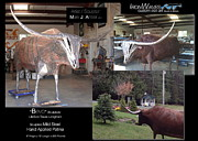 Aluminum Outdoor Sculpture Sculptures - Bevo by Mark Ansier