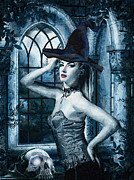 Witch Paintings - Bewitched by Mo T