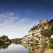 Aquitaine Framed Prints - Beynac et Cazenac Limousin France Framed Print by Colin and Linda McKie