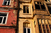 Weathered Houses Framed Prints - Beyoglu Old Houses 01 Framed Print by Rick Piper Photography