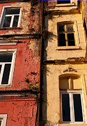 Weathered Houses Framed Prints - Beyoglu Old Houses 02 Framed Print by Rick Piper Photography