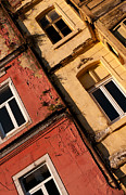 Weathered Houses Prints - Beyoglu Old Houses 03 Print by Rick Piper Photography