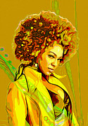 Green Jacket Prints - Beyonce 2 Print by Byron Fli Walker