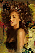 Celebrities Prints - Beyonce Print by Corporate Art Task Force