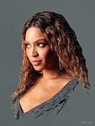 Beyonce Print by Marina Likholat