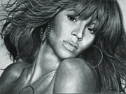 Hand Made Art - Beyonce Original Pencil Drawing by Murni Ch