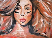 Jay Z Drawings - Beyonce Super Bowl XLVII by LLaura Burge