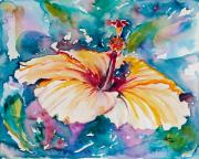 Tropical Plant Paintings - Beyond Blue by Eve  Wheeler