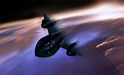Sr-71 Prints - Beyond Mach 3 Print by Peter Chilelli