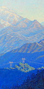 Plein Air Art - Beyond Mt. Wilson by Elena Roche